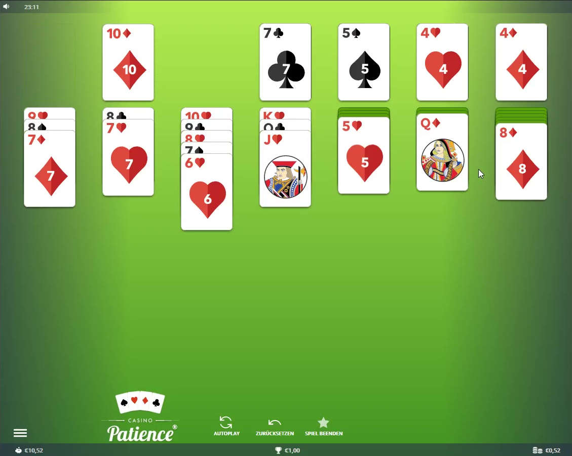 Casino Patience bei Unibet getestet