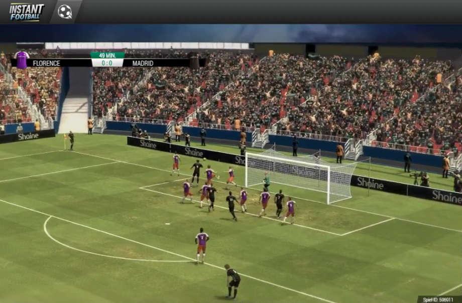 Instant Football - Match Ansicht
