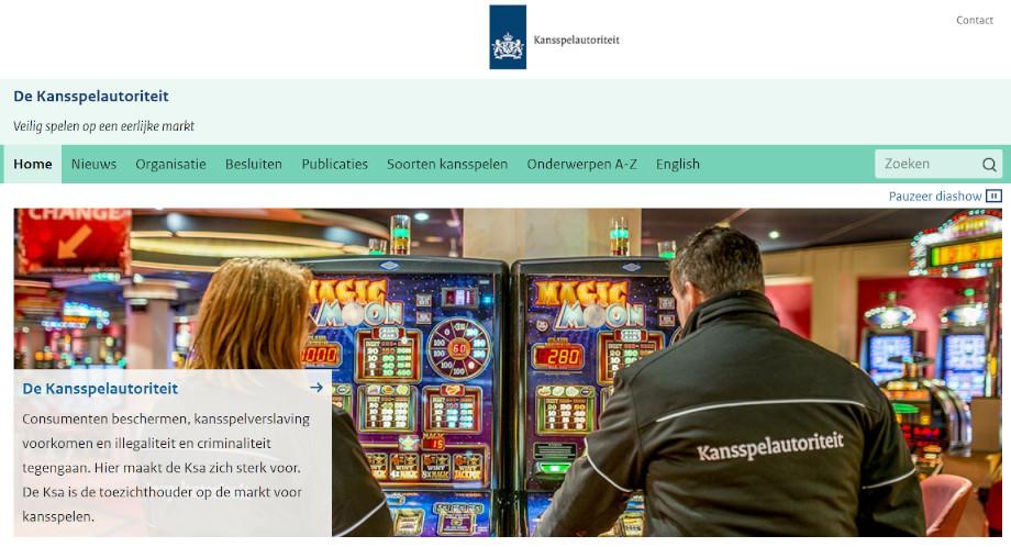 Die Webseite der niederländischen Regulierungsbehörde