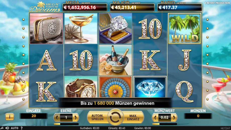 Mega Fortune Dreams von NetEnt