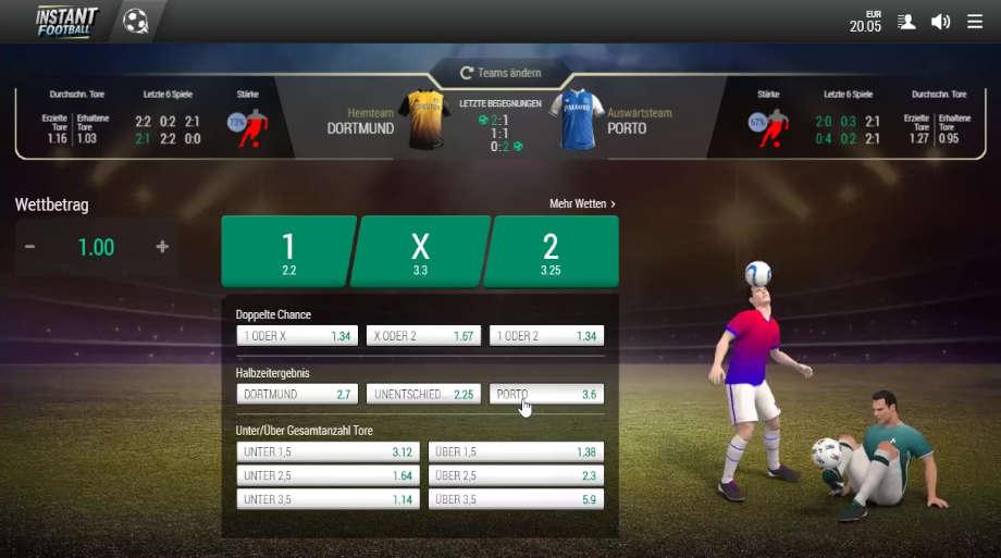 Virtual Sports Wetten