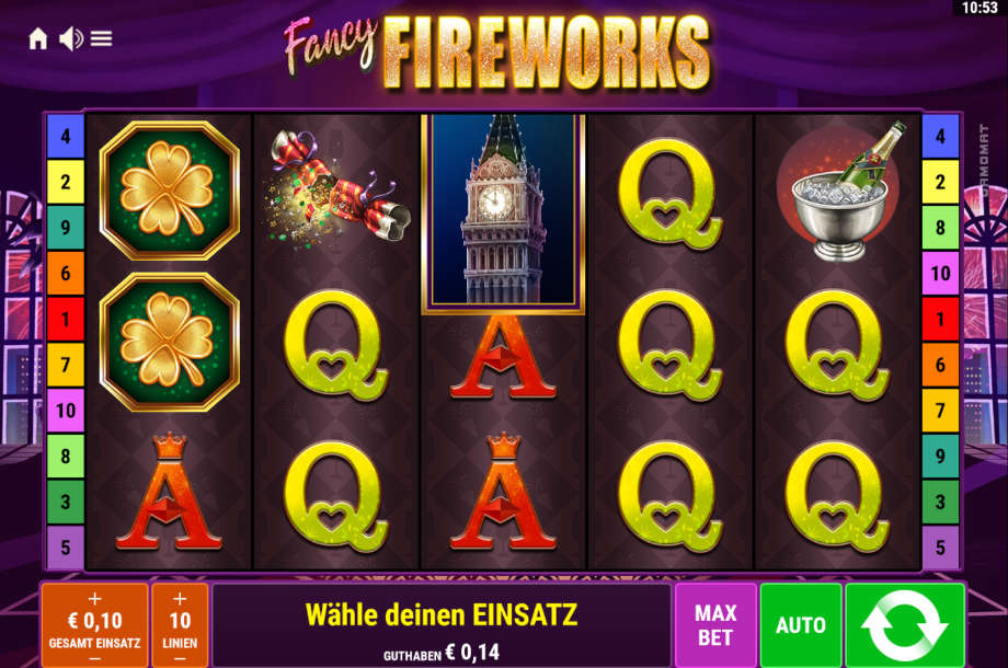 Fancy Fireworks von Gamomat/Bally Wulff