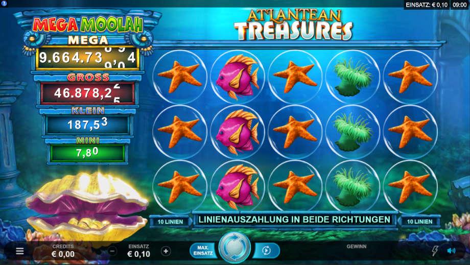 Atlantean Treasures Mega Moolah von Microgaming
