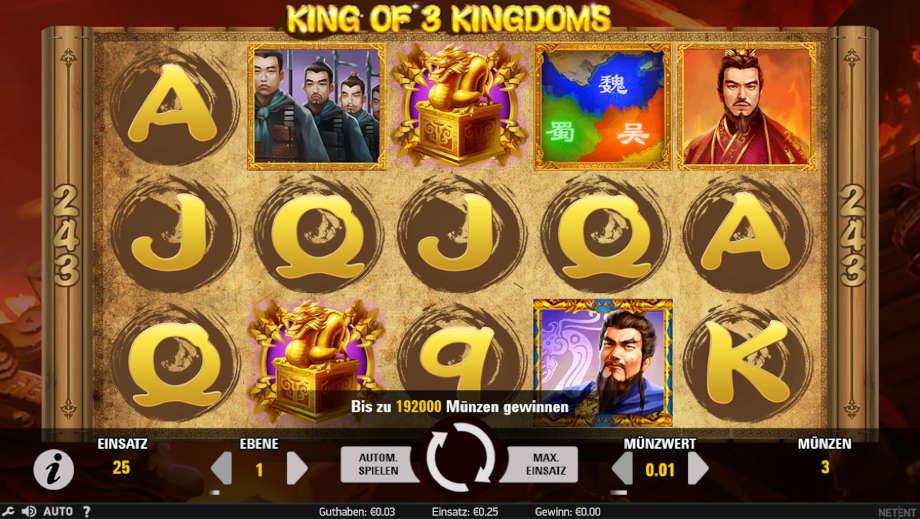 King of 3 Kingdoms von NetEnt