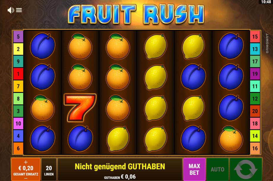 Fruit Rush von Gamomat