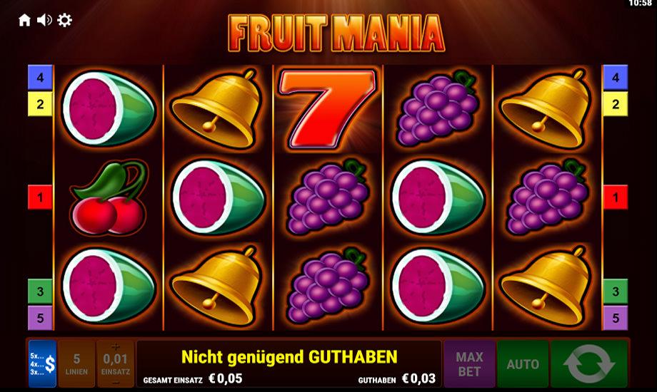 Fruit Mania Slot von Gamomat