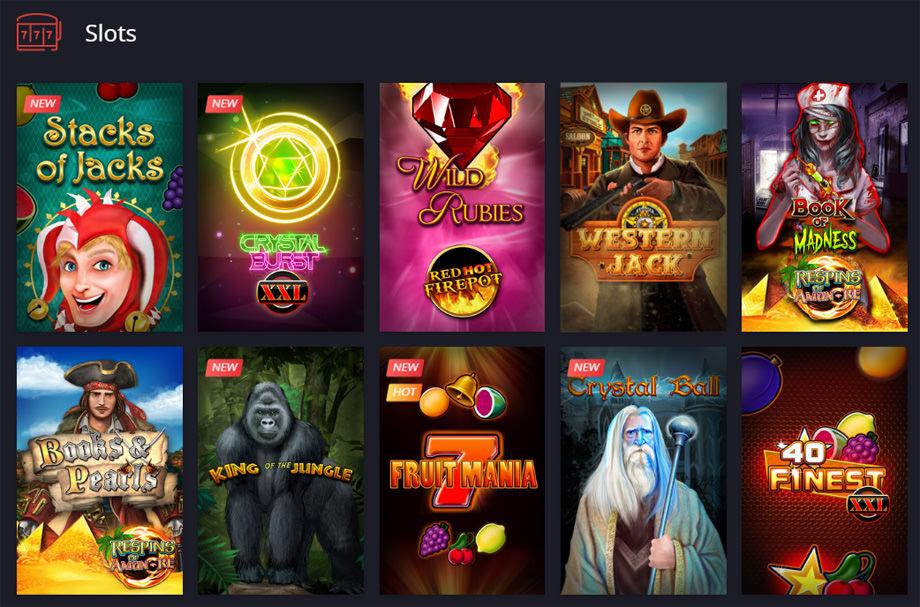 Ausschnitt der Spielauswahl bei Twin.com