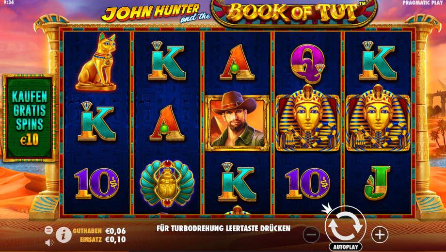 John Hunter and the Book of Tut von Pragmatic Play