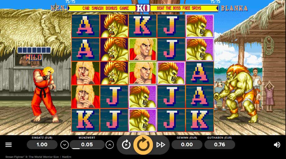 Street Fighter II: The World Warrior Slot von NetEnt