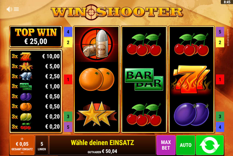 Win Shooter von Gamomat/Bally Wulff