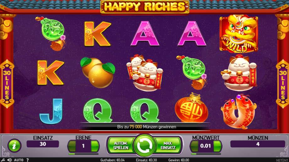 Happy Riches von NetEnt