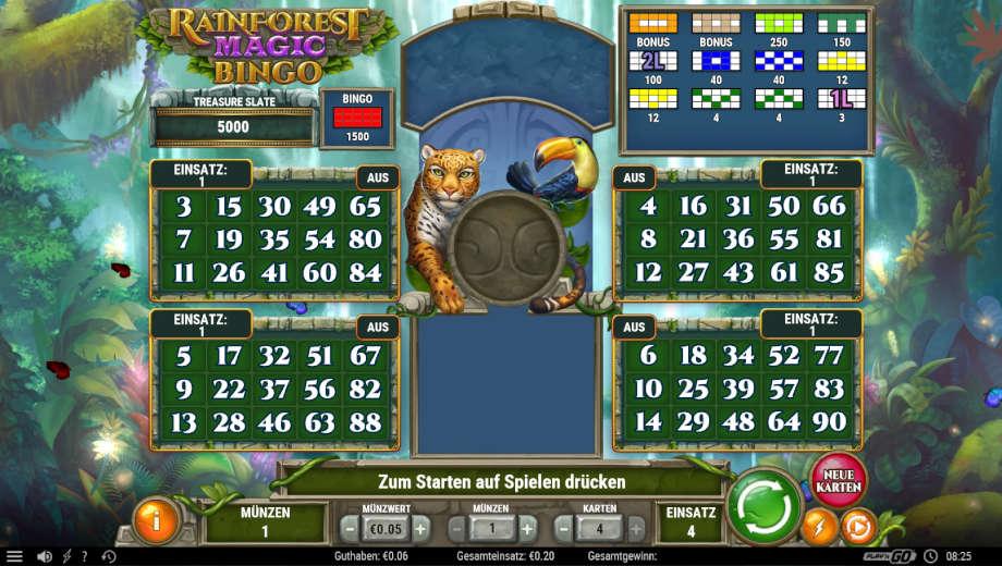 Rainforest Magic Bingo Slot von Play'n GO