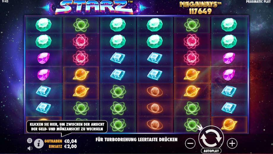 Starz Megaways von Pragmatic Play