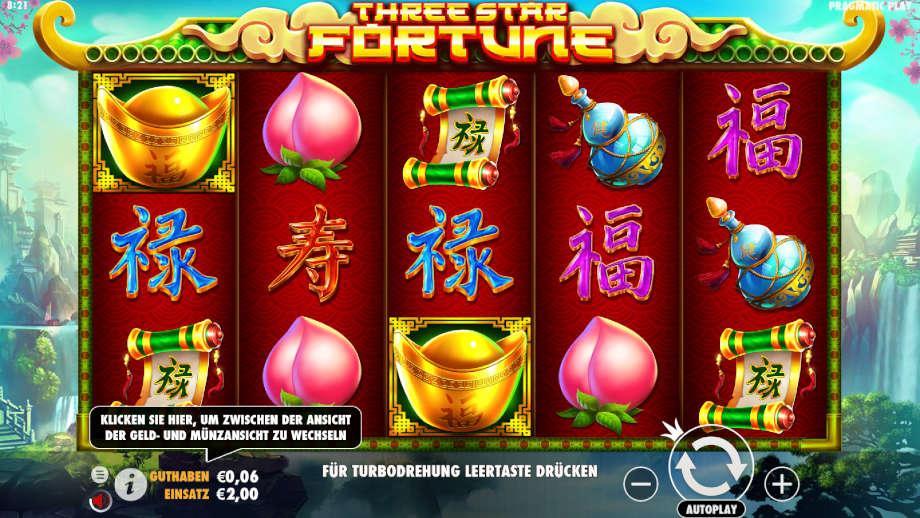 Three Star Fortune von Pragmatic Play