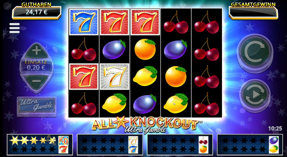 All Star Knockout Ultra Gamble von Northern Lights/Yggdrasil