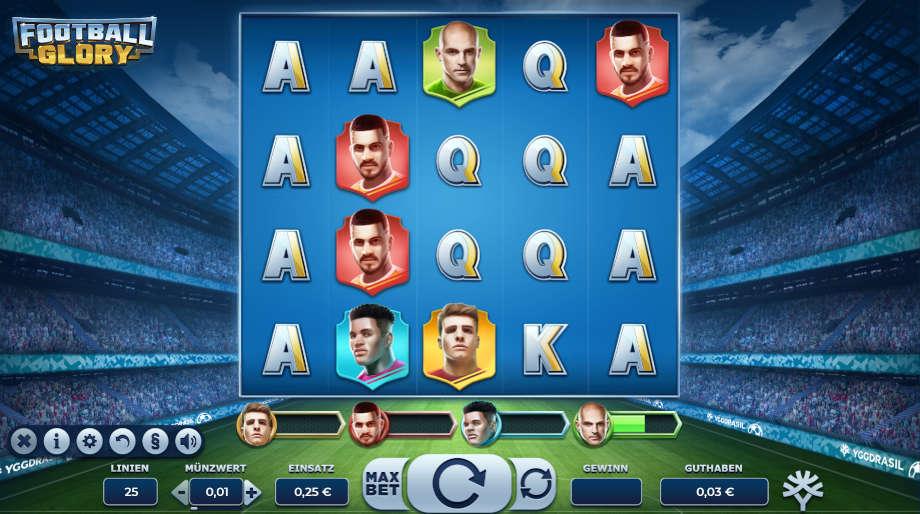 Football Glory von Yggdrasil