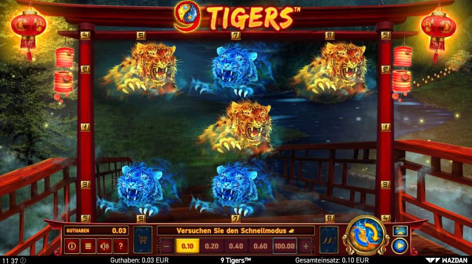 9 Tigers von Wazdan