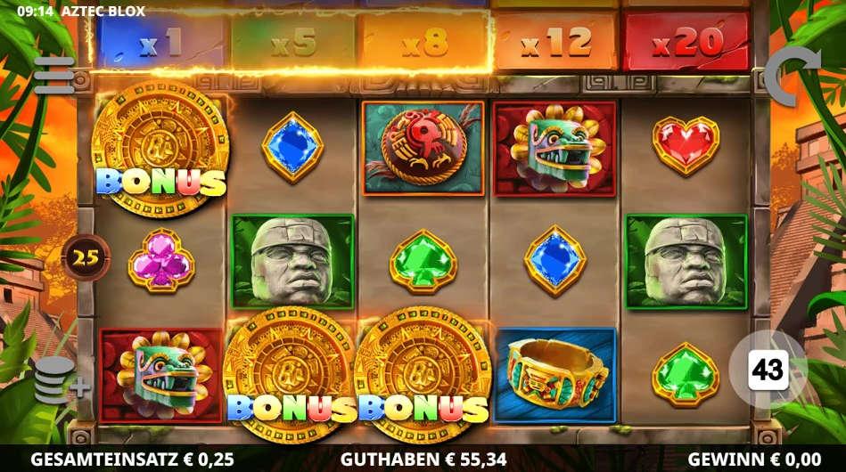 Aztec Blox von Leander Games