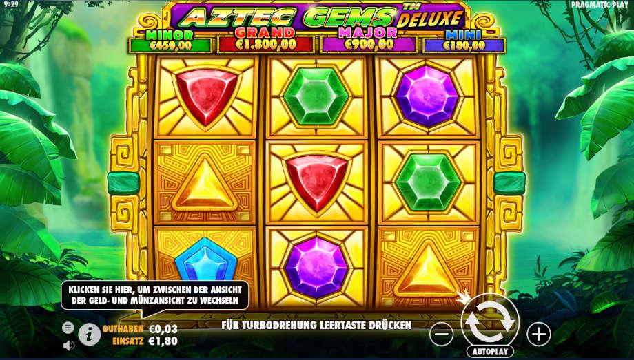 Aztec Gems Deluxe von Pragmatic Play