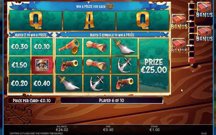 Captain Cutlass and the Hidden Treasures von Inspired Gaming