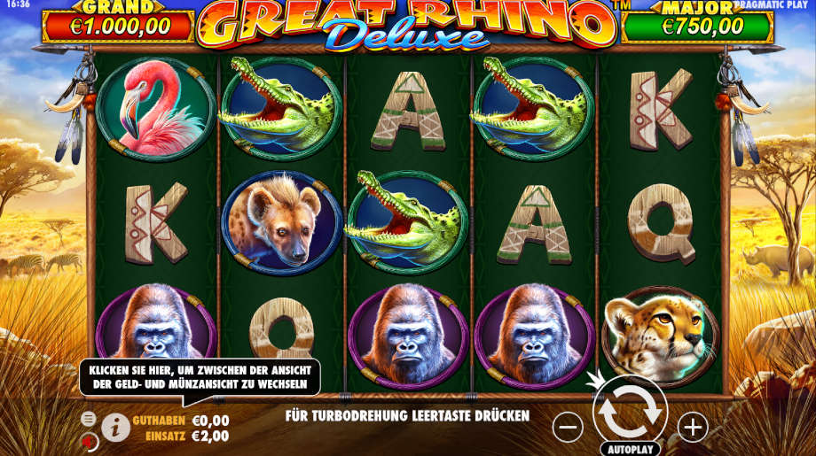 Great Rhino Deluxe von Pragmatic Play