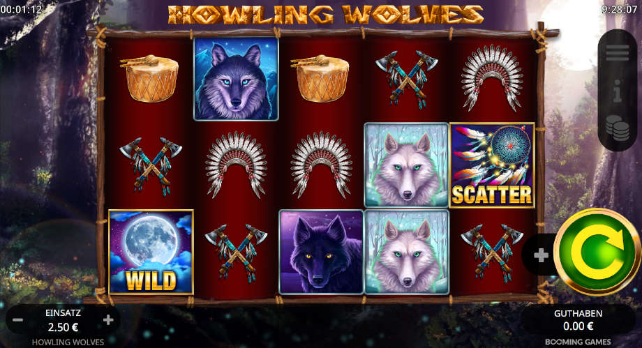 Howling Wolves von Booming Games
