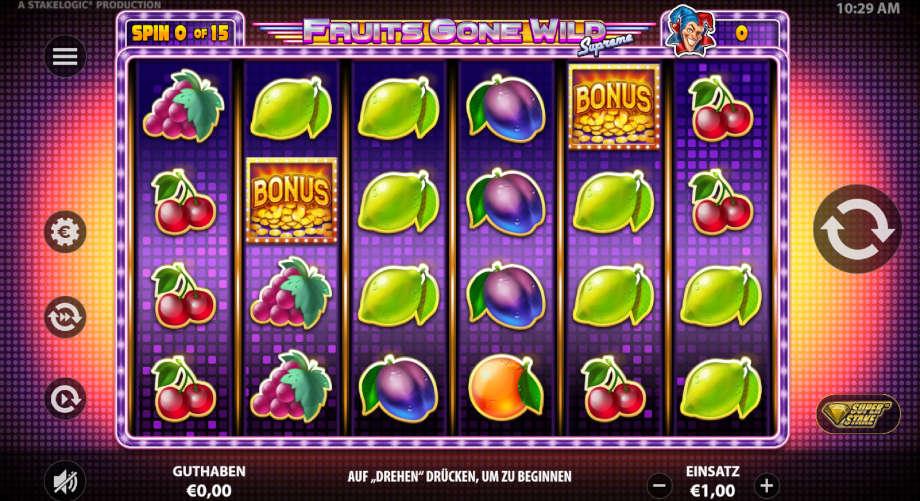 Fruits gone Wild Supreme von Stakelogic