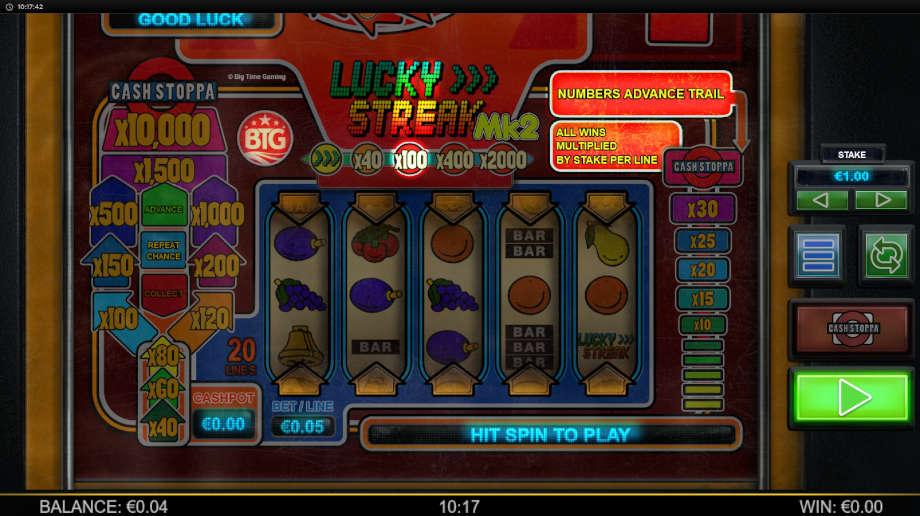 Lucky Streak Mk2 von Big Time Gaming