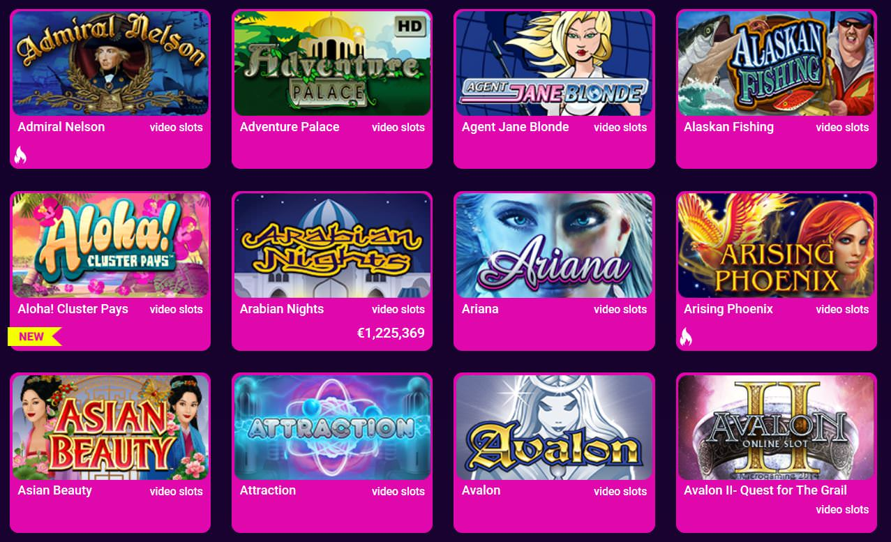 Verschiedene Casino Spiele beim No Bonus Casino