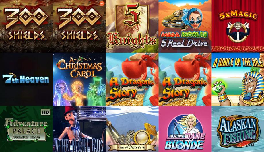 Verschiedene Casino Spiele bei Spinia