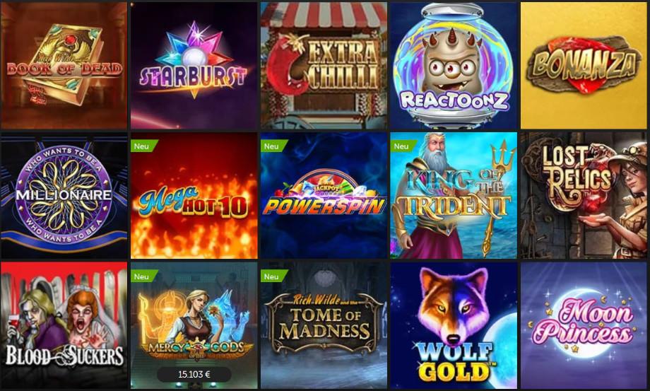 Verschiedene Casino Spiele bei Betsafe