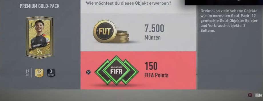 Premium Gold Pack FIFA Ultimate Team