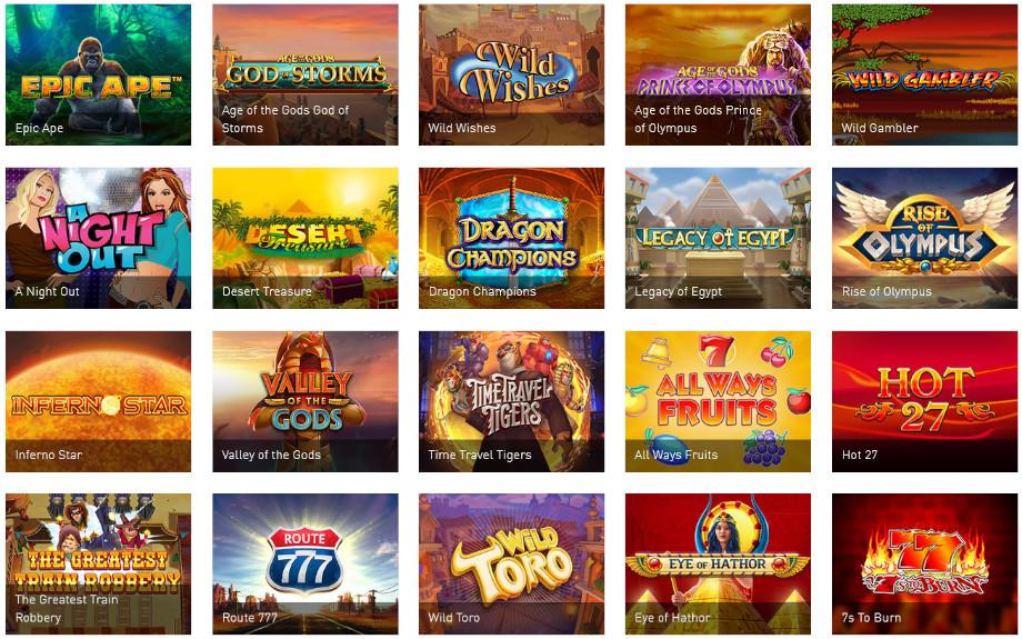 Verschiedene Casino Spiele bei Casino Club