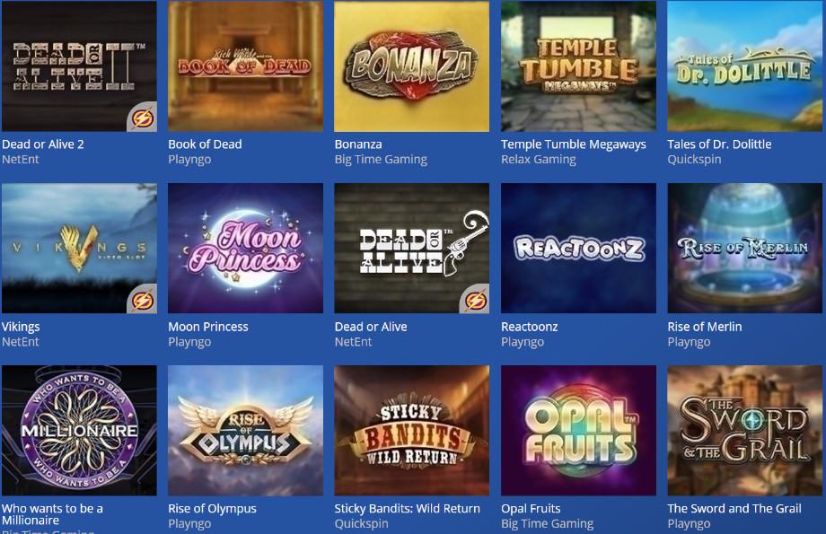 Verschiedene Casino Spiele bei Casino Heroes