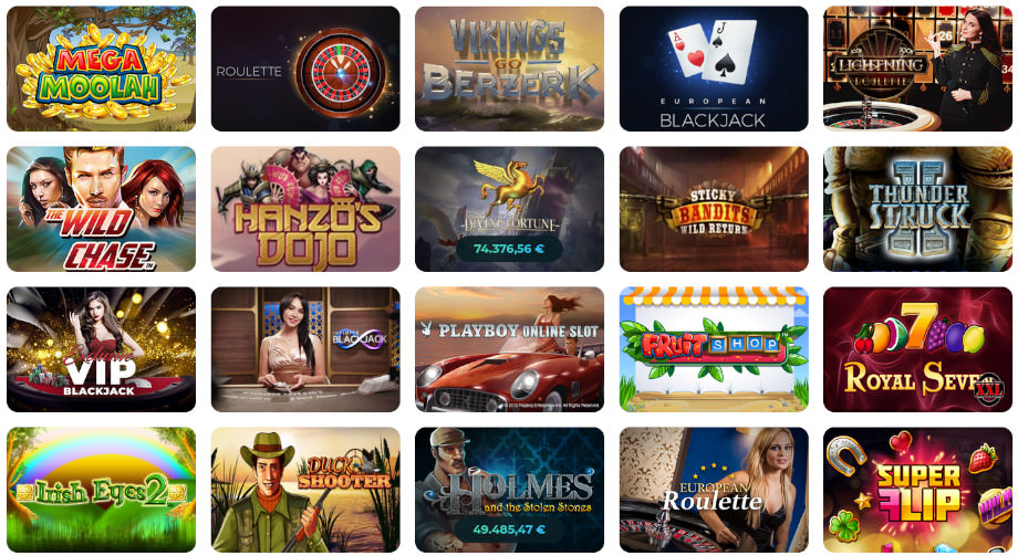 Verschiedene Casino Spiele bei Casino Joy