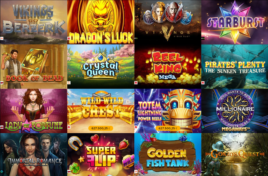 Verschiedene Casino Spiele bei CasinoCruise