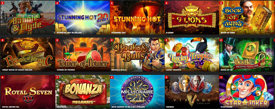 Verschiedene Casino Spiele beim EnergyCasino