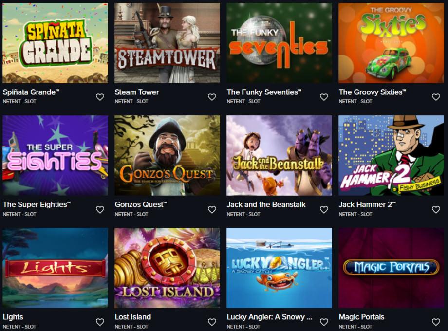 Verschiedene Casino Spiele bei Fairplay Casino