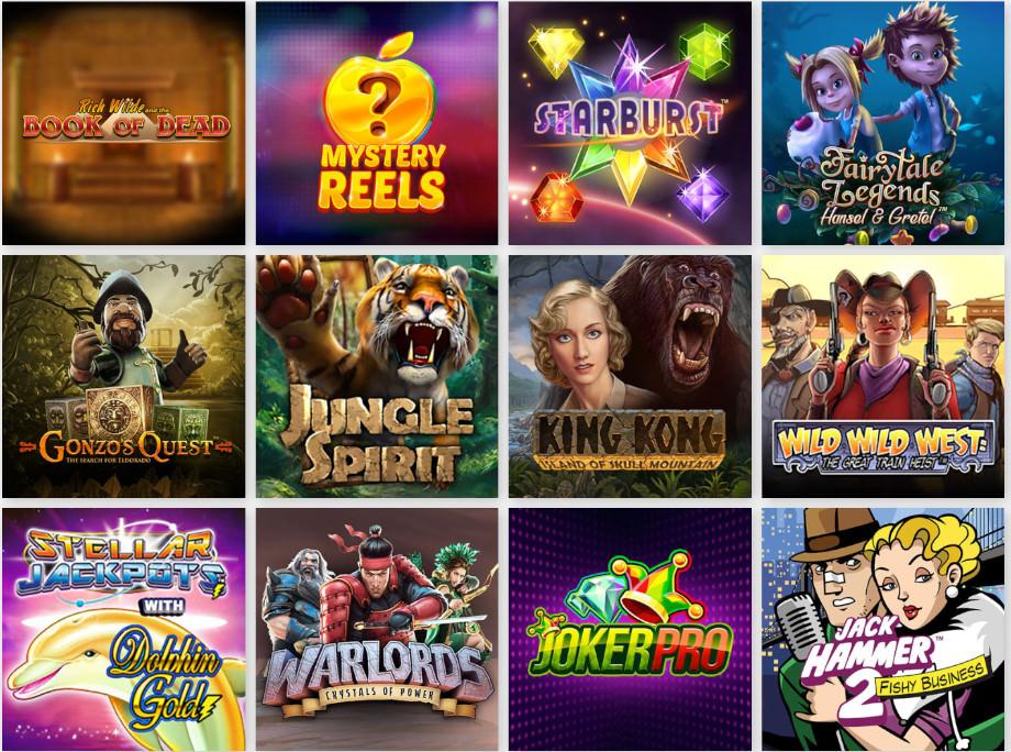 Verschiedene Casino Spiele bei Gate777