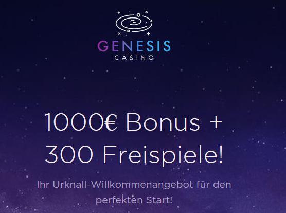 Der Willkommensbonus von Genesis