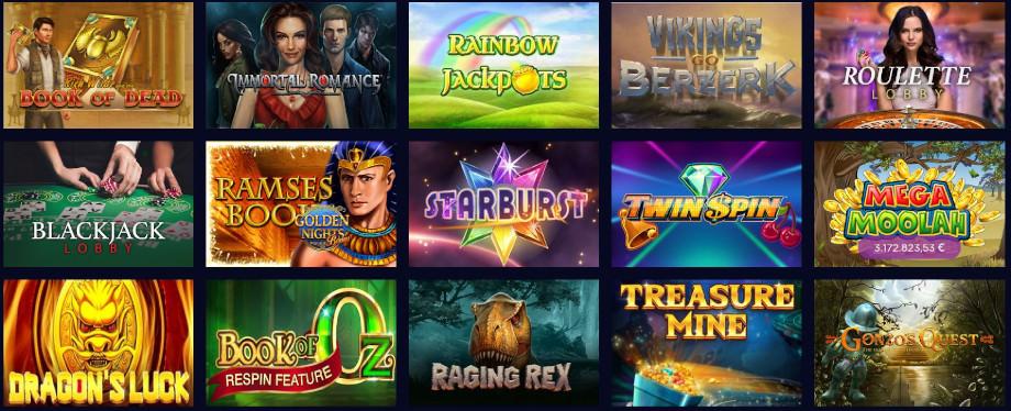 Verschiedene Casino Spiele bei Genesis Casino