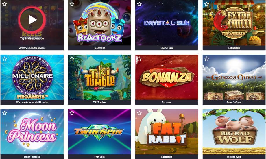 Verschiedene Casino Spiele bei Casumo