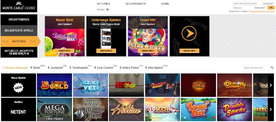 Homepage montecarlocasino.com