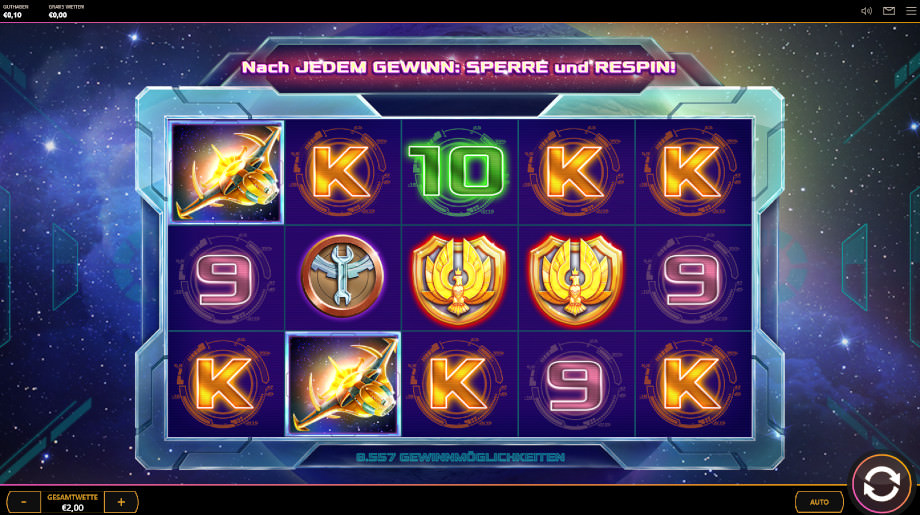 Der Spielautomat Solar Snap von Cayetano Gaming