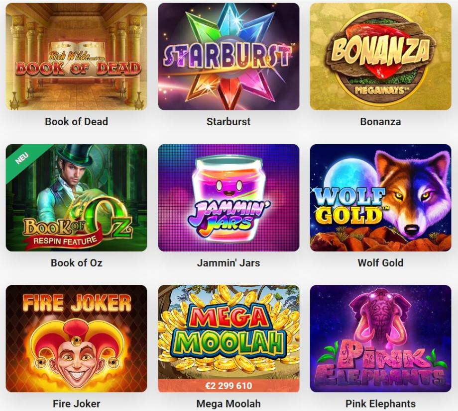 Verschiedene Casino Spiele bei LeoVegas