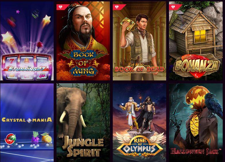 Verschiedene Casino Spiele bei LVbet