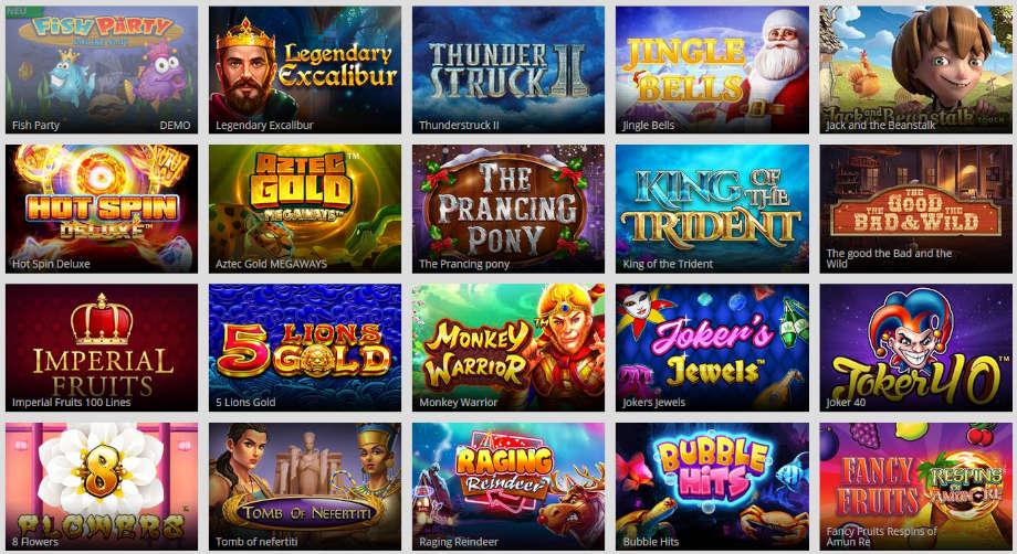 Verschiedene Casino Spiele bei MagicRed