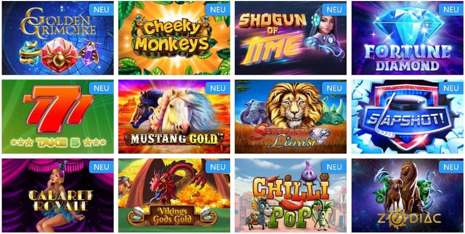 Verschiedene Casino Spiele bei mr.play