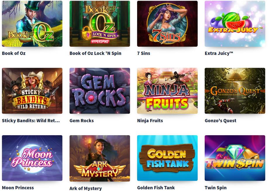 Verschiedene Casino Spiele bei MultiLotto