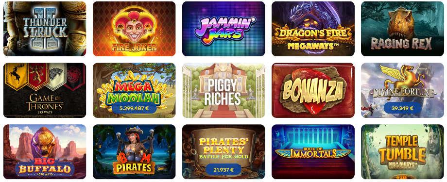 Verschiedene Casino Spiele bei Pelaa